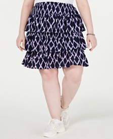 MICHAEL Michael Kors Plus Size Tiered Skirt