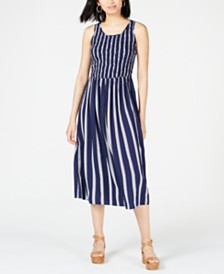 Maison Jules Striped Midi Dress, Created for Macy's