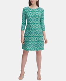 Tommy Hilfiger Petite Mandala-Print A-Line Dress