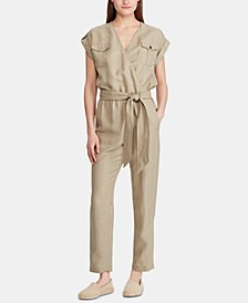 Petite Utility-Inspired Jumpsuit