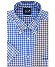 Eagle Men's Classic/Regular Fit Button Down Non-Iron Stretch Short Sleeve Dress Shirt