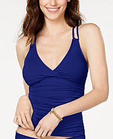 Strappy-Back Underwire Tankini Top