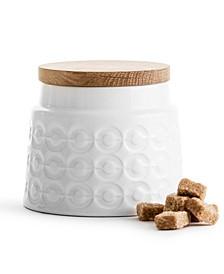 Storage Jar with Oak Lid Short