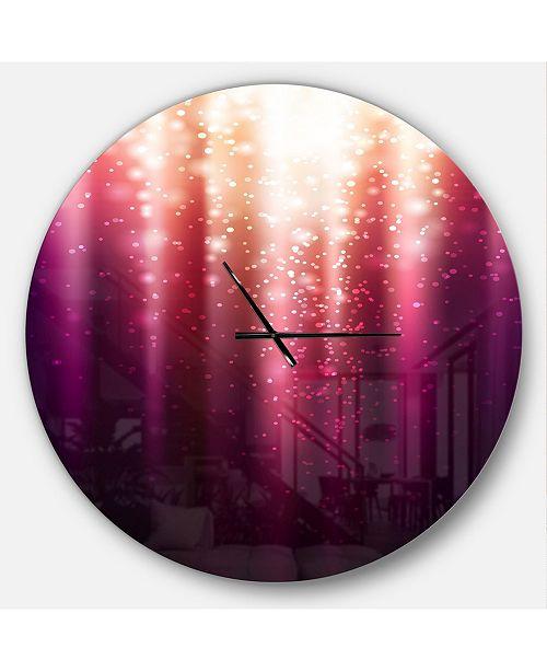 Design Art Designart Oversized Modern Round Metal Wall Clock