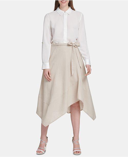 62de669ea2 DKNY Belted Draped Midi Skirt & Reviews - Skirts - Women - Macy's