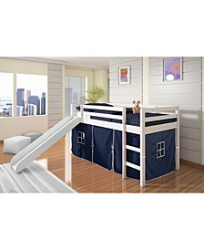 Twin Tent Loft Bed with Slide