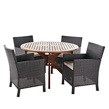 Wes Outdoor 5-Pc. Dining Set, Quick Ship
