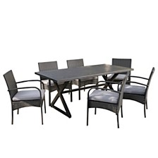 Ashworth Outdoor 7-Pc. Dining Set, Quick Ship