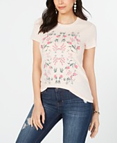 23caa24f9 Lucky Brand Cotton Graphic Mosaic Tee