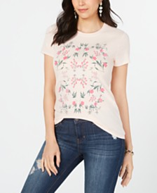 Lucky Brand Cotton Graphic Mosaic T-Shirt