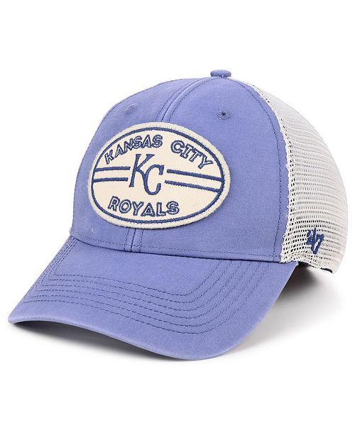 official photos 7b3ac 38840 ...  47 Brand Kansas City Royals Hudson Patch Trucker MVP Cap    ...
