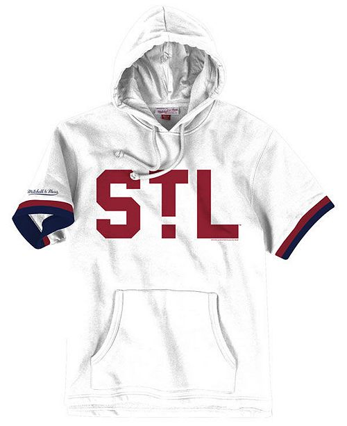 new products 01e6f 7de5f Men's St. Louis Cardinals French Terry Short Sleeve Hoodie