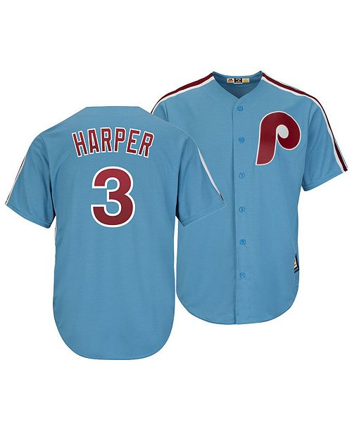 42f60fbed06 ... Majestic Men s Bryce Harper Philadelphia Phillies Player Replica Cool  Base Jersey ...