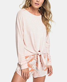 Roxy Juniors' After Sunrise Tie-Front Top