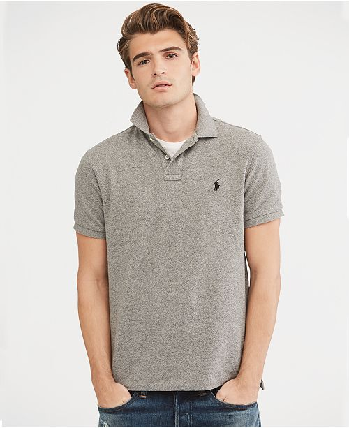 88ec67b7b Polo Ralph Lauren Men's Custom Slim-Fit Mesh Polo Shirt & Reviews ...