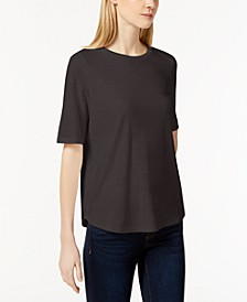 Organic Cotton Crew-Neck T-Shirt, Regular & Petite