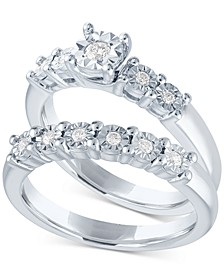 Diamond Bridal Set (1/5 ct. t.w.) in Sterling Silver
