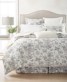 CLOSEOUT! Classic Botanical Toile Bedding Collection, Created for Macy's