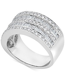 Diamond Baguette Multi-Row Band (1-1/2 ct. t.w.) in 14k White Gold