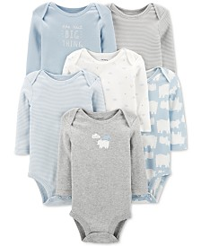 Carter's Baby Boys 6-Pack Printed Cotton Bodysuits