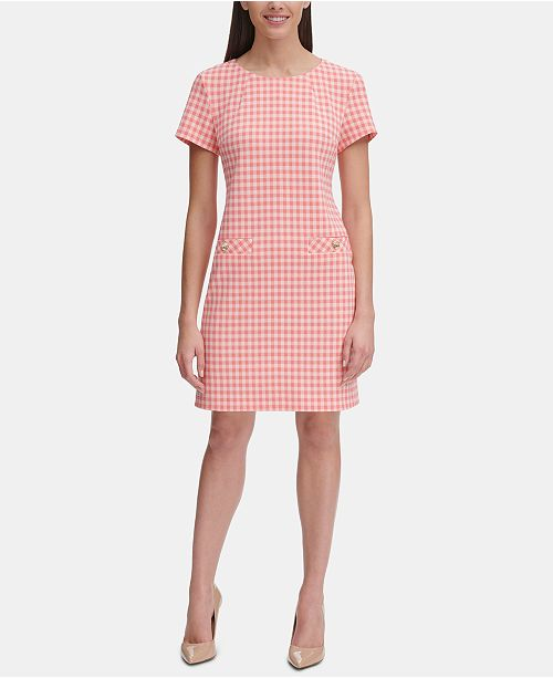 Tommy Hilfiger Picnic Gingham Pocket A-line Dress