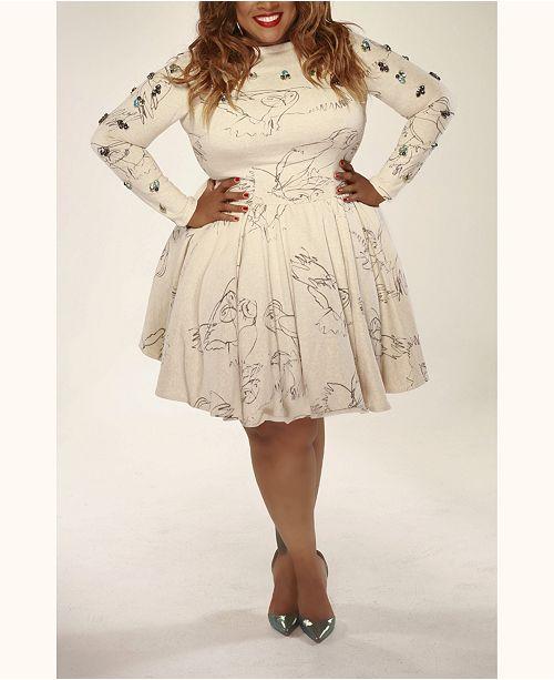 590b3b530ff Eleven60 London s Owl Dress   Reviews - Dresses - Plus Sizes - Macy s
