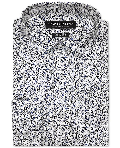 Nick Graham Men's Slim-Fit Paisley Shirt