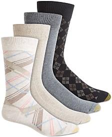 Gold Toe Men's 4-Pk. Printed & Solid Socks