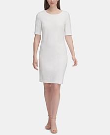 Floral-Textured Sheath Dress