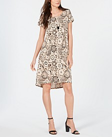Petite Paisley-Print Dress & Necklace