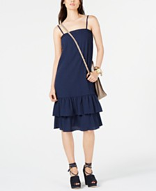 Michael Michael Kors Ruffle-Hem Dress, in Regular & Petite Sizes