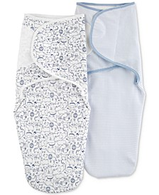 Baby Boys 2-Pc. Cotton Swaddle Blankets