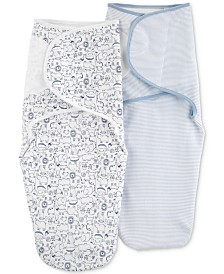 Carter's Baby Boys 2-Pc. Cotton Swaddle Blankets