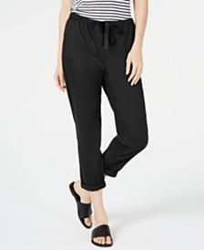 Eileen Fisher Organic Cotton Drawstring Pull-On Pants