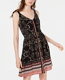 Juniors' Printed Button-Front Sun Dress, Created for Macy's