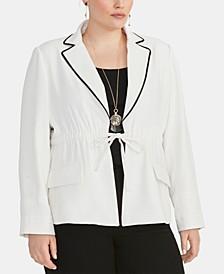 Trendy Plus Size  Alessandra Drawstring Blazer
