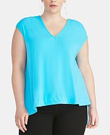Bina Trendy Plus Size  Cropped V-Neck Top