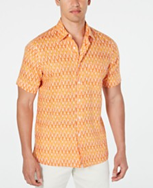 Tasso Elba Men's Adian Ikat Linen Shirt, Created for Macy's