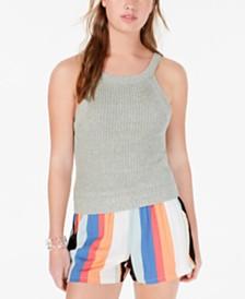 Ultra Flirt Juniors' High-Neck Knit Sweater