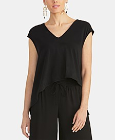Bina Cropped V-Neck Top