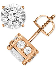 Diamond Stud Earrings (1-1/4 ct. t.w.) in 14k Gold, Rose Gold or White Gold