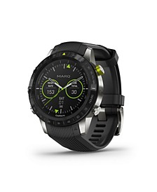 Mens Marq Athlete Black Silicon Strap Smart Watch, 46mm