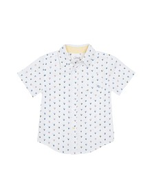 Allover Print Shirt with Chest Patch Pocket