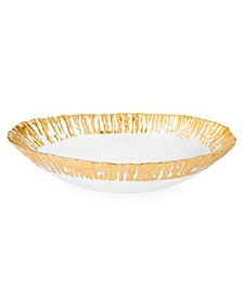 Oval Shaped Scalloped Bowl- Gold