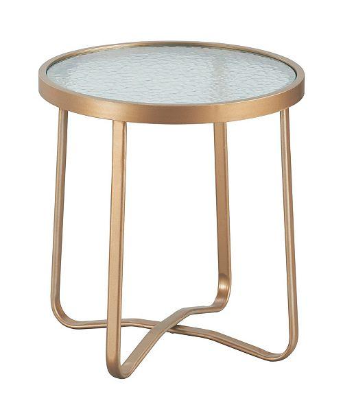 Elle Decor Mirabelle Outdoor Side Table, Quick Ship