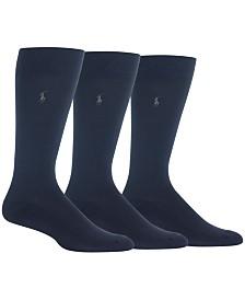 Polo Ralph Lauren Men's 3-Pk. Performance Dress Socks