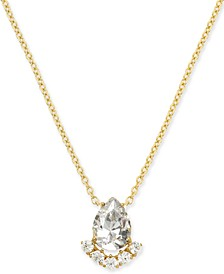 """Teardrop Crystal Cluster Pendant Necklace, 16"""" + 1"""" extender, Created for Macy's"""