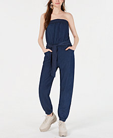 Dollhouse Juniors' Strapless Jumpsuit