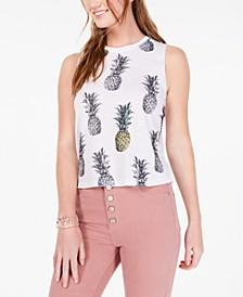 Juniors' Pineapple Tank Top