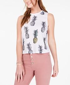 Rebellious One Juniors' Pineapple Tank Top